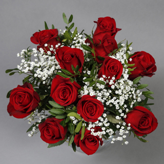 Dozen Red Roses Bouquet image